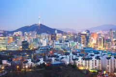 Seoul, South Korea city skyline Kuvituskuvat