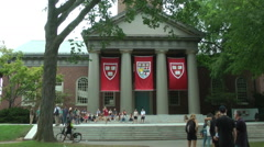 Harvard University's iron gate in Cambridge, Massachusetts, USA. Stock Footage