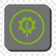 Engineering Rounded Square Button Stock Illustration