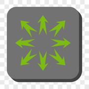 Expand Arrows Rounded Square Button Stock Illustration