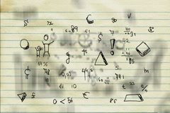 Hand-Drawn Numbers - Background Loop - Symbols and drawings - Old Paper Stock Footage