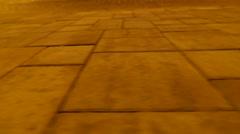 Pavement view, night hyperlapse. 4K UHD Stock Footage