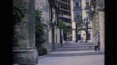 1969: beautiful structure of a city. SPAIN Stock Footage