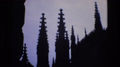 1969: grandiose towering building SPAIN Stock Footage