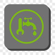 Plumbing Rounded Square Button Stock Illustration