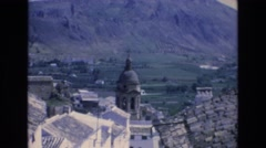 1969: overlooking the abbey. SPAIN Stock Footage