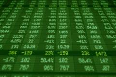 Stock Market - Financial  Numbers - Digital Led - Screen - dark green - Below Stock Footage