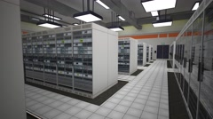 4K Data Center Server Room 3D Animation 11 Stock Footage