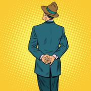 Retro male back Stock Illustration