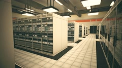 4K Data Center Server Room 3D Animation 12 Stock Footage
