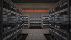 4K Data Center Server Room Vertigo Effect 3D Animation 1 Stock Footage