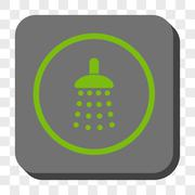 Shower Rounded Square Button Stock Illustration