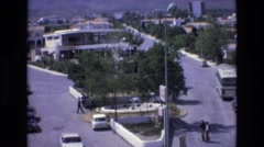 1969: the panoramic view of simple elegant town with roads and habitats SPAIN Stock Footage