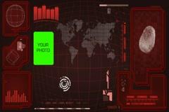 Worldwide - Scanning data - interface morphing - fingerprint searching - digi Stock Footage