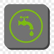 Water Tap Rounded Square Button Stock Illustration