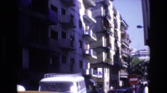 1969: as you are standing still doing nothing the world is always moving SPAIN Stock Footage