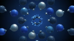Bauble Explosion - Blue - 125bpm - Seamless Stock Footage