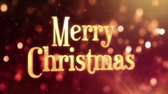3D Rotating Merry Christmas on bokeh background - 125bpm - Seamless Stock Footage