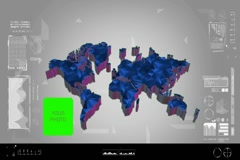 Fragments - Flipping 3d map - worldwide scan - graphic design - blue - digita Stock Footage