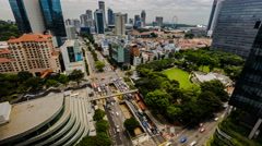 Daytime Cityscape Traffic Timelapse View of Downtown Singapore 4K UHD Stock Footage
