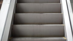Moving escalator steps. Full Hd Stock Footage Clip. Stock Footage