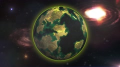 4K New Planet in the Galaxy for Humankind Stock Footage