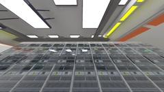 Data Center Server Room Cluster Farm 3D Animation 4 Stock Footage