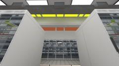 Data Center Server Room Cluster Farm 3D Animation 8 Stock Footage