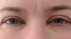 Look of female eyes. Stock Footage