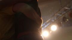 Kizomba dance at dancing light Stock Footage