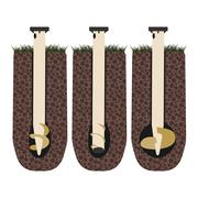 Flat screw piles in the ground Stock Illustration