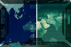 Earth - Analysis software Radar - blue 02 Stock Footage