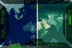 Earth - Analysis software Radar - green 02 Stock Footage