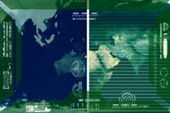 Earth - Analysis software Radar - green Stock Footage