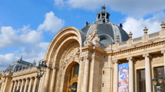 4K Petit Palais, Art Gallery and Museum, Europe Landmark Building Stock Footage