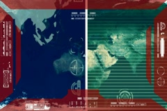 Earth - Analysis software Radar - red Stock Footage