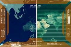 Earth - Analysis software Radar - yellow Stock Footage