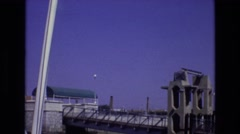 1972: a bridge to somewhere, awaiting traffic, seeming strong and secure Stock Footage