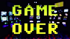 Slot machines game over 4k Stock Footage