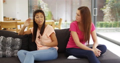 4k, Two girl friends having a heated argument at home. Stock Footage