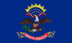Flag of North Dakota correct size illustration Stock Photos