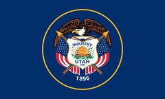 Flag of Utah correct size color illustration Stock Photos