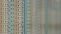 Close up fire alarm control panel Stock Footage