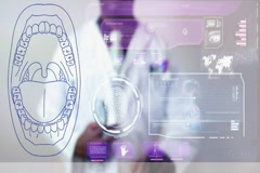 Mouth - Graphics - Touch Screen - High Tech - Data - Futuristic Stock Footage