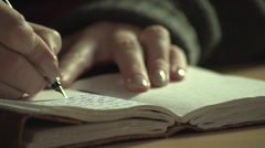 Writing a diary Stock Footage