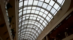 Interior of a mall in the city centre Stock Footage