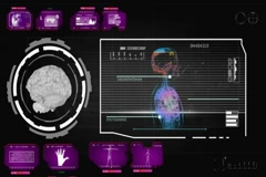 Brain - Screen Virus Detector - pink 01 Stock Footage