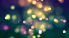 HD Loopable Background with nice shimmering bokeh Stock Footage