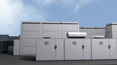 4K NAS Battery Park Energy Storage Station Photorealistic 3D Animation 1 Stock Footage