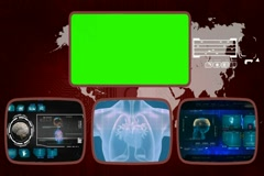 Heart digital - Medical Monitor - Advanced Research - World - blue 01 Stock Footage